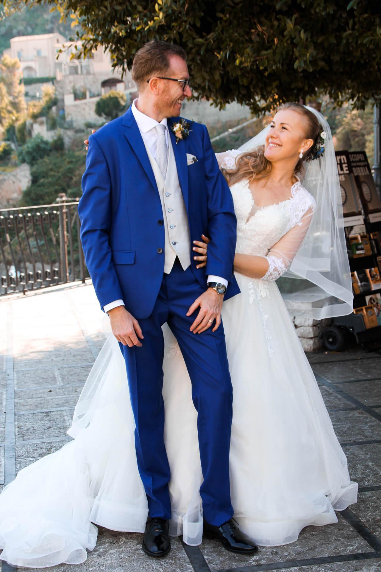 Svadobné fotenie mladého páru
